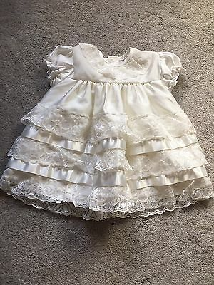 Caroline Jane Babywear Baby Girl Dress Christening Birthday Wedding 6-12M