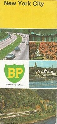 1970 BP OIL Road Map NEW YORK CITY Manhattan Brooklyn Queens Bronx Staten Island