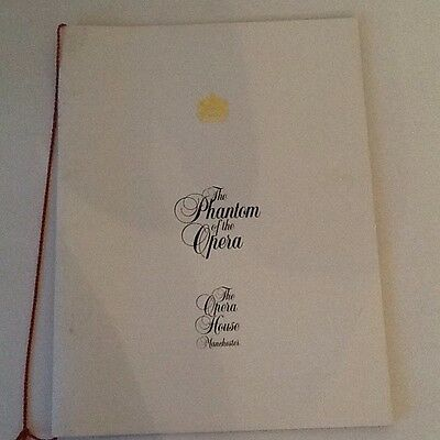 Phantom Of The Opera Opening Night Programme Manchester 1993.