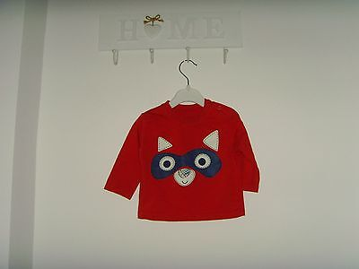 F & F Baby Boys'/Girls' Long Sleeved Red Top 6-9 Months