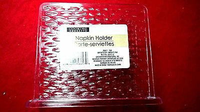NEW COOKING CONCEPTS Clear Plastic Textured Napkin Holder 5 ''x 2''x 4.5''
