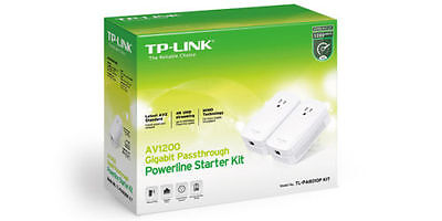 TP-LINK TL-PA8010P Kit AV1200 Gigabit With Power Outlet Pass-Through Powerlin...
