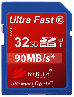 32GB Memory card for Nikon D3400 Camera   Class 10 90MB/s Speed SD SDHC New UK