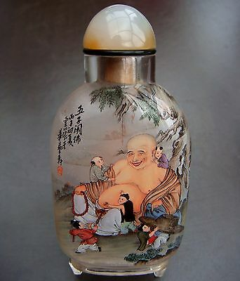 Snuff Bottle, Snuffbottle, Masterpiece, Buddha und Guanyin, China, Feng Shui