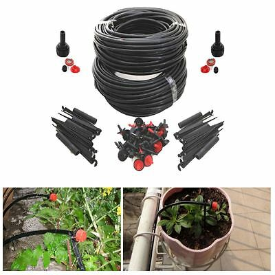 46M Micro Irrigation Automatic Watering Garden Plant Greenhouse Water Drip Kit