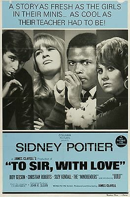 """To Sir with love 16"""" x 12"""" Reproduction Movie Poster Photograph"""