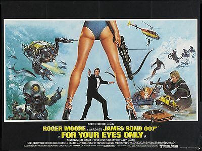 "For Your Eyes Only james bond 16"" x 12"" Reproduction Movie Poster Photograph"