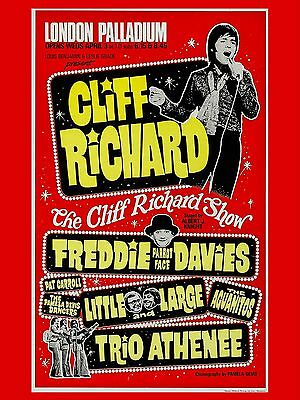 "Cliff Richard Palladium  16"" x 12"" Reproduction Concert Poster Photo"