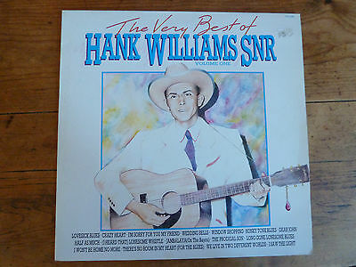 The Very Best Of Hank Williams Snr Volume 1