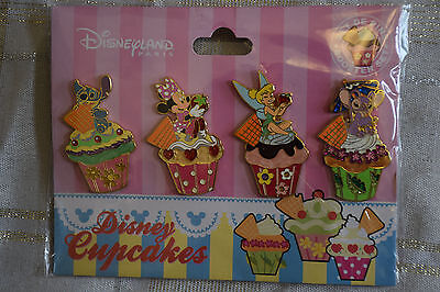 Disney Pin 85450 Disney Cupcakes - 4 Pin Booster Set Stitch Angel Tinker Bell
