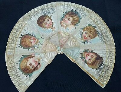 Vintage Antique Victorian Trade Card fan shape Rhode Island Jeweler