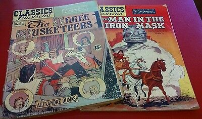 Classics Illustrated Alexandre Dumas Man In The Iron Mash The Three Musketeers