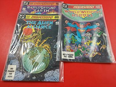Invasion Limited Series Book #1-3 Complete DC Comics (1988)