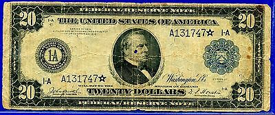 --FR-966* 1914 $20 FRN  (( Rare STAR )) Boston District (( Rare STAR )) A131747*