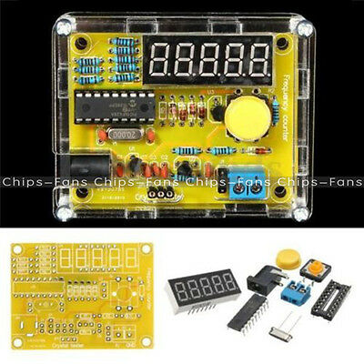 1Hz-50MHz Crystal Oscillator Tester Frequency Counter DIY Kits Meter with Case
