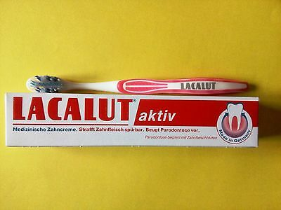 LACALUT AKTIV Active Medical Toothpaste stops bleeding gums+GIFT Toothbrush