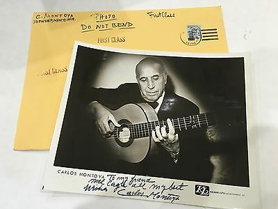 Carlos Montoya Famous Flamenco Guitarist Signed Autograph Photo 8 x 10