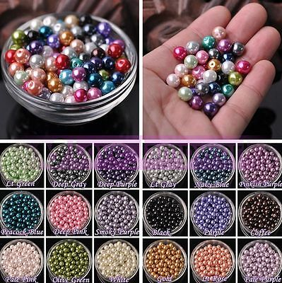 Wholesale Top Quality Czech Glass Pearl Round Beads Lot 4mm 6mm 8mm 10mm 12mm