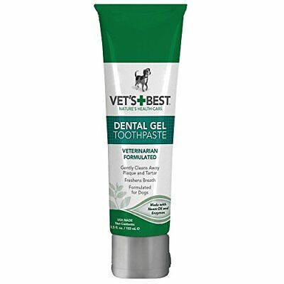3.5-Ounce Vets Plaque/Tartar Removing Dental Gel Toothpaste For Dogs Pet Supply