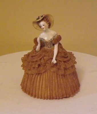 Antique California Dresden by Avis Lace Porcelain Victorian figurine - Rare