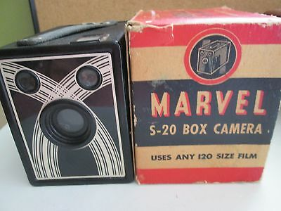 Marvel S 20 Box Camera Sears Robuck  1937-1940