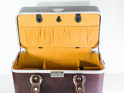 Solid vintage camera box. Japan. Key & security lock. SLR DSLR lenses case.VGC
