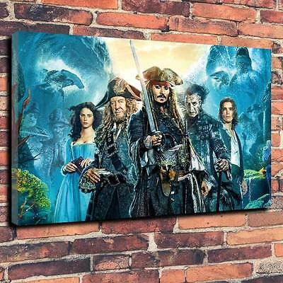 "Pirates Of The Caribbean Dead Men Tell No Tales Canvas A1.30""x20""Deep 30mm Frame"