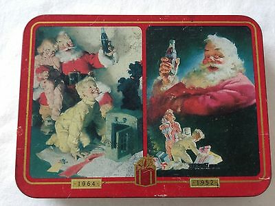 Vintage 1996 Limited Edition Coca Cola Nostalgia Playing Cards in Tin Christmas