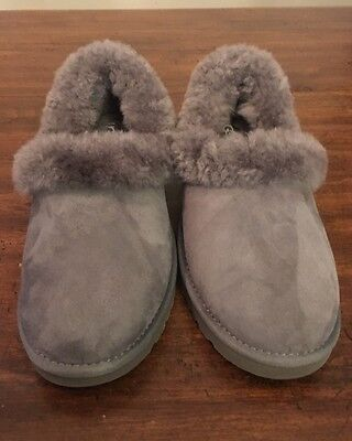 UGG Australia Nita Slippers Shoes Gray Womens Size 8 100% Authentic 1011894