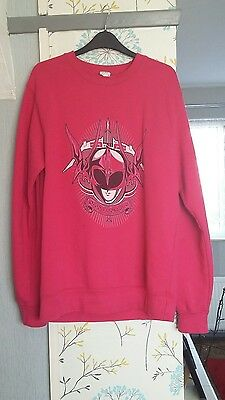 Power Rangers Jumper Pink Ranger Movie 2017. Size medium. Long sleeve Sweater