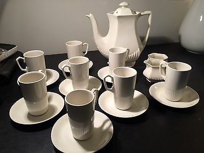 Vintage William Adams & Sons England Empress Pattern White Ironstone Tea Set