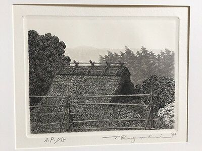 TANAKA RYOHEI - Summer Tamba Road 1/15 A.P. Org Hand Signed & Numbered Etching !