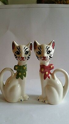 Tall Vintage Cat Salt And Pepper Shakers