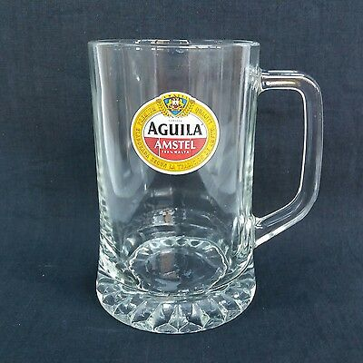 Stunning Amstel Aguila Pint Glass Tankard - Ideal Home Bar - Pub - Mancave