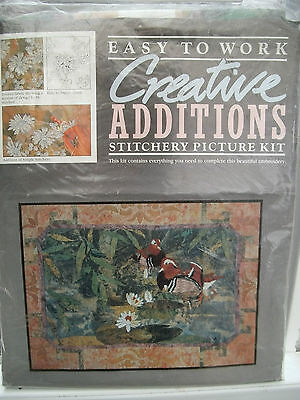 Stitchery Picture Kit - Water Garden Embroidery.