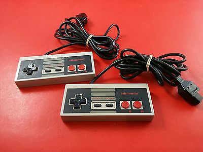 Bundle Lot of 2 Nintendo NES OEM Official Controllers (Tested & Working)