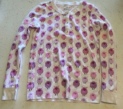 Roberta Roller Rabbit Kids Pink Purple Sheep Print Pajama Top Size 10