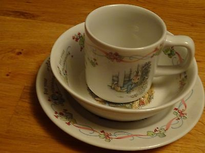 Wedgwood Beatrix Potter Peter Rabbit For your Christening baby set