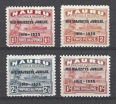 Nauru 1935 Sc#35-8  Reign of George V-25th Anniv. MH-Set Cat 12.60 Two Scans