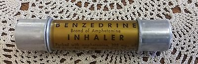 vintage Benzedrine Inhaler -Smith Kline & French Laboratories- pharmacy medical