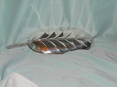 VINTAGE FB ROGERS SILVER CO  banana leaf serving tray silverplated 4746