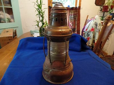 Perkins  Antique Nautical Kerosene Lamp