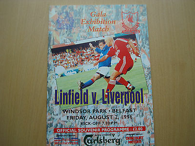 Linfield V Liverpool Aug 1996