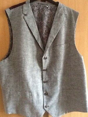 """Mens size 52"""" Brand New Cotton Waistcoat by WILLIAMS & BROWN."""