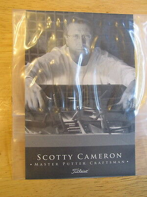 Scotty Cameron Wiping Oil Cloth Titleist with Putter Care instructions NIB
