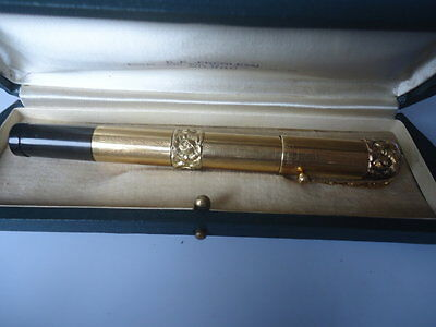 Old pen Watermans Ideal GOLD 18Kr retractable safety eyedropper