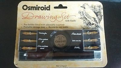 Osmiroid Drawing Set Boxed Set 22 Carat Gold Plated Nibs