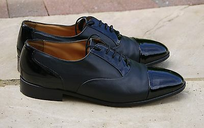 Mens GRENSON Gallants Leather Shoes. UK 10. Black. Made in Engand. EXCELLENT!
