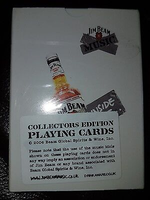 2006 Jim Beam Collectors Edition Music Playing Cards NEW shrinkwrapped