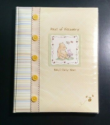 Baby's Early Years Classic Pooh Memory Album Book Birth to Age Five Boy or Girl